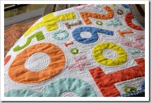 ikea numbers quilt