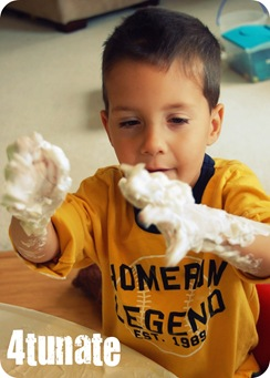 messy shaving cream activity
