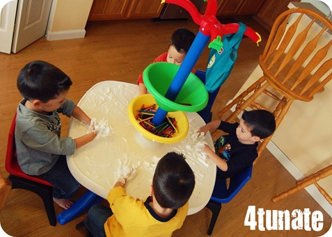 shaving cream children's activity