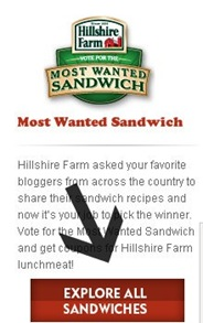 vote for hillshire farm most wanted sandwich