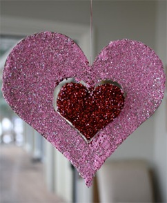 heart valentine decor
