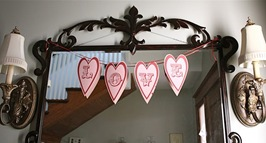 valentine love banner printable craft