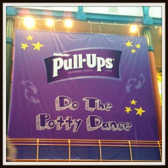 pull ups potty dance event sign
