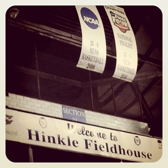 Butler Final Four Banners Hinkle Fieldhouse