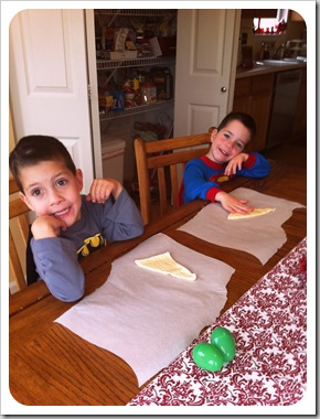 making reserection rolls with kids