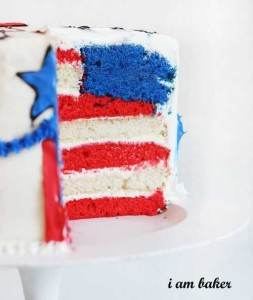 4th of july suprise layered cake i am baker