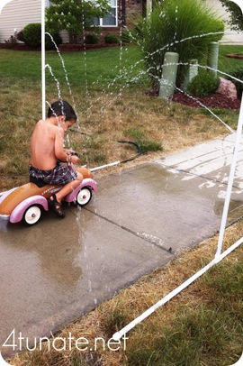 summer fun in the sprinkler