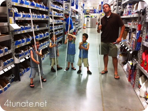taking kids to lowes
