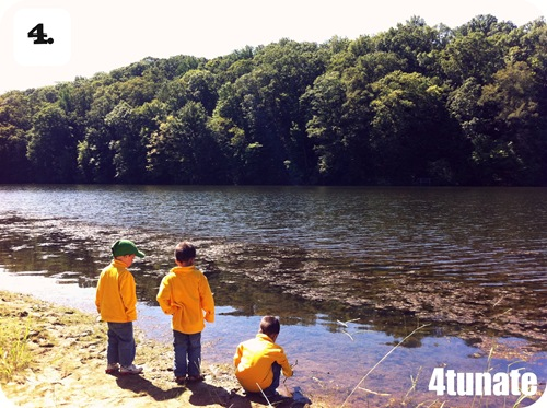 camping with kids exploring nature
