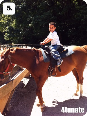 camping with kids horseback riding