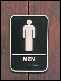 gas station men's bathroom sign