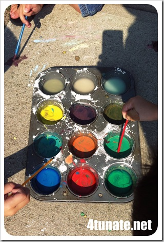 kids outdoor activity paint