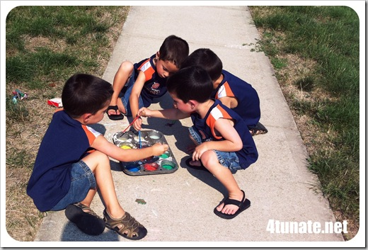 preschool craft sidewalk paint