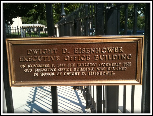 Executive Office Building Dwight D Eisenhower Entrance