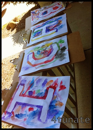 preschool alphabet letter paintings