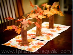 fall tree 3 dimensional project fall crafts for kids