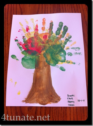 handprint fall tree for kids