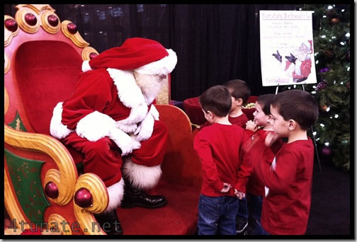 a visit with santa at the christmas gift and hobby show