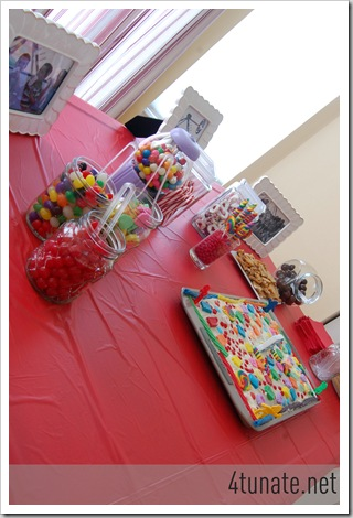candy buffet for candy land party