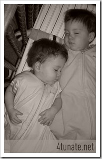 how to co-bed twins in a crib