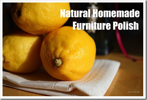 natural cleaning homemade furniture polish