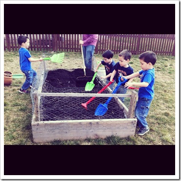 gardening raised beds with kids