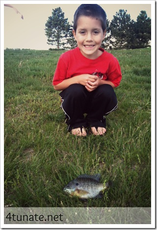 fishing for blue gill with kids