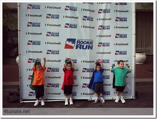 rookie run finish line 5 year olds