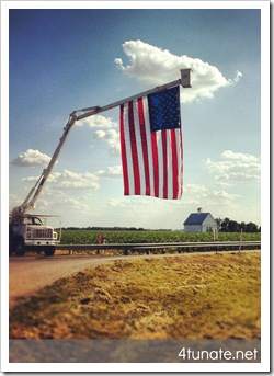 america heartland flag countryside