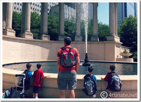 chicago millineum park with kids