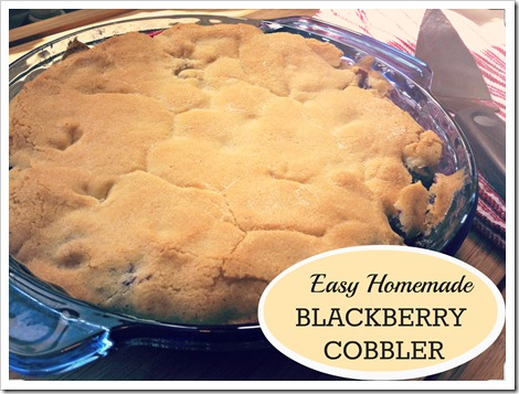 easy homemade blackberry cobbler recipe