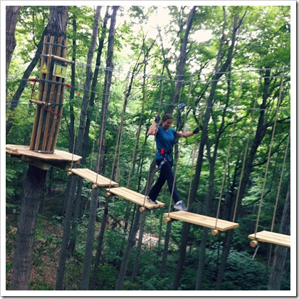 treetops ropes course indiana eagle creek