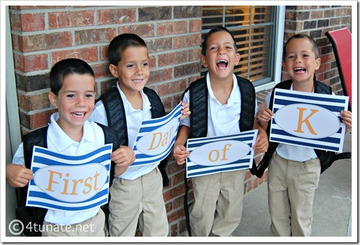 first day of kindergarten signs