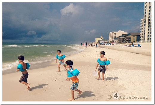 gulf shores beach swimming with kids