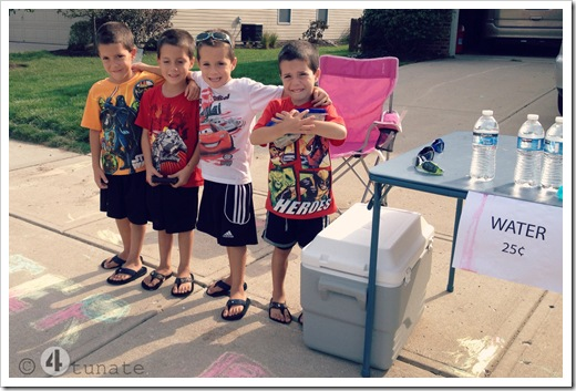 how to set up a lemonade stand with kids