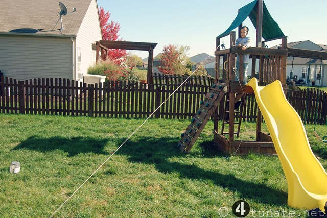 outdoor zipline for kids - Simple Outdoor Adventures For Boys {Day 25} : Make A Zip Line For