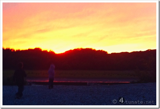 watching a sunset with kids simple outdoor adventures