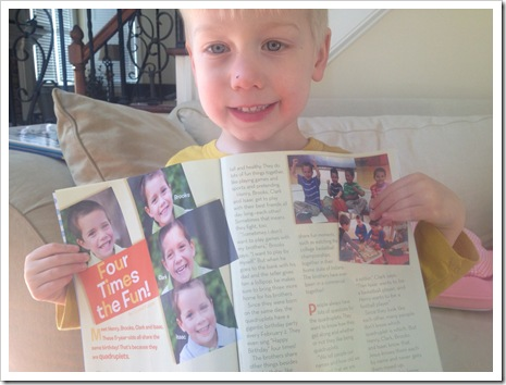 Murray Quadruplets Four Times the Fun Clubhouse Jr. Magazine
