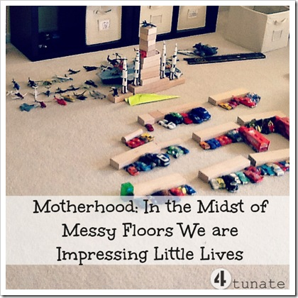 cleaning up messes in motherhood