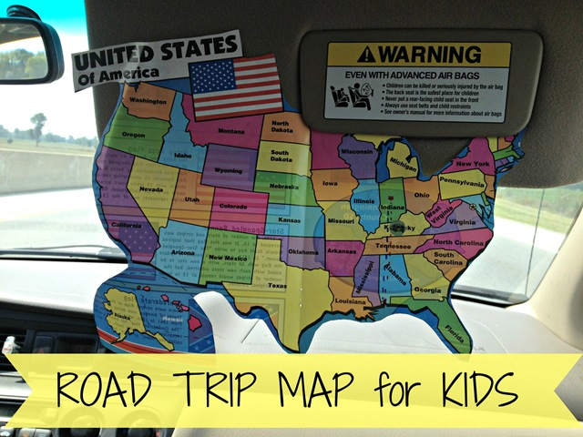 Road Trip Map for Kids 4tunate