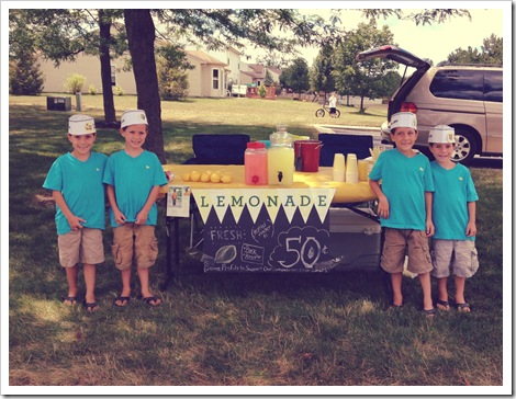 adorable lemonade stand