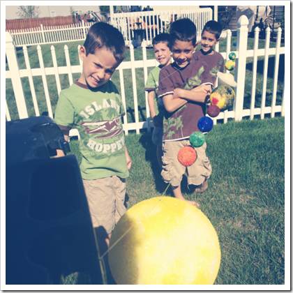 making a solar system for homeschool astronomy
