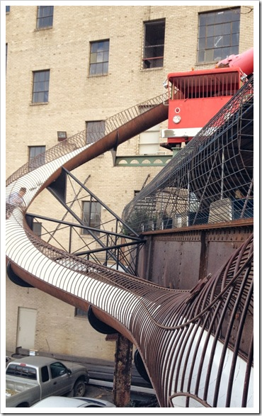 st louis city museum outdoor slides