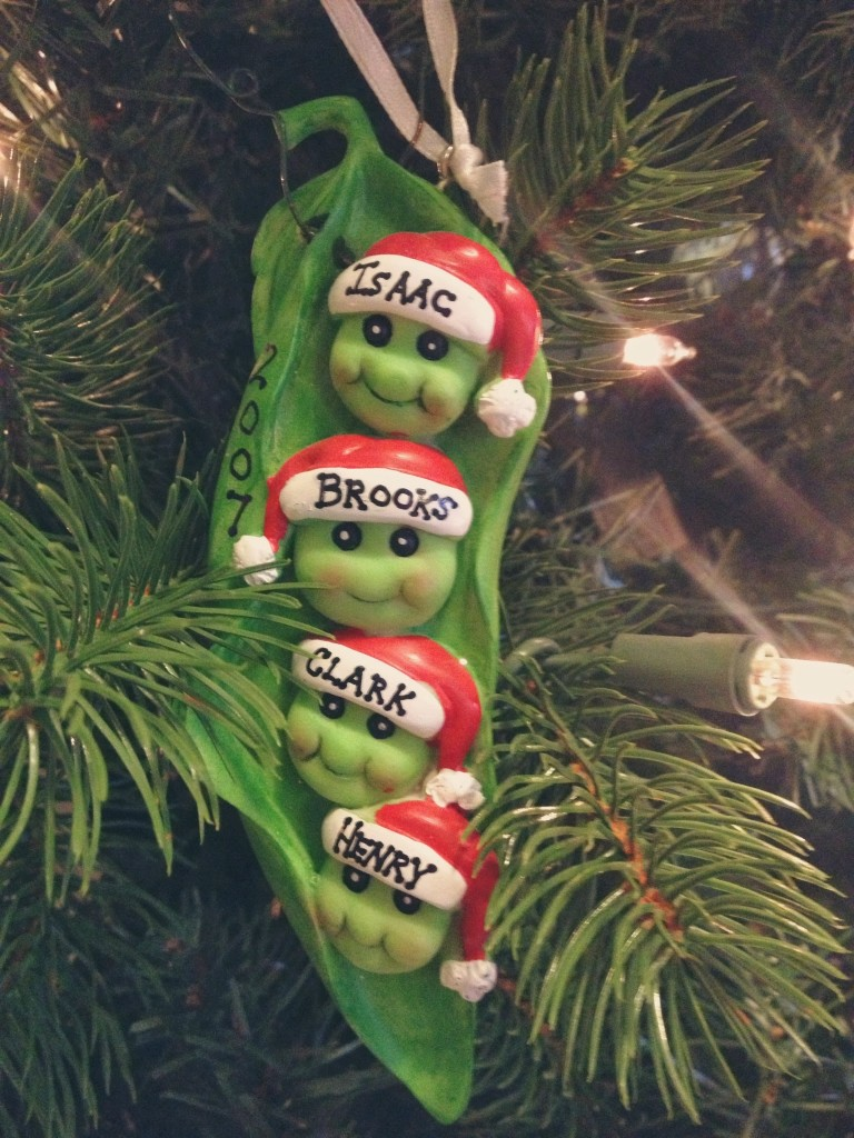 four peas in a pod christmas ornament