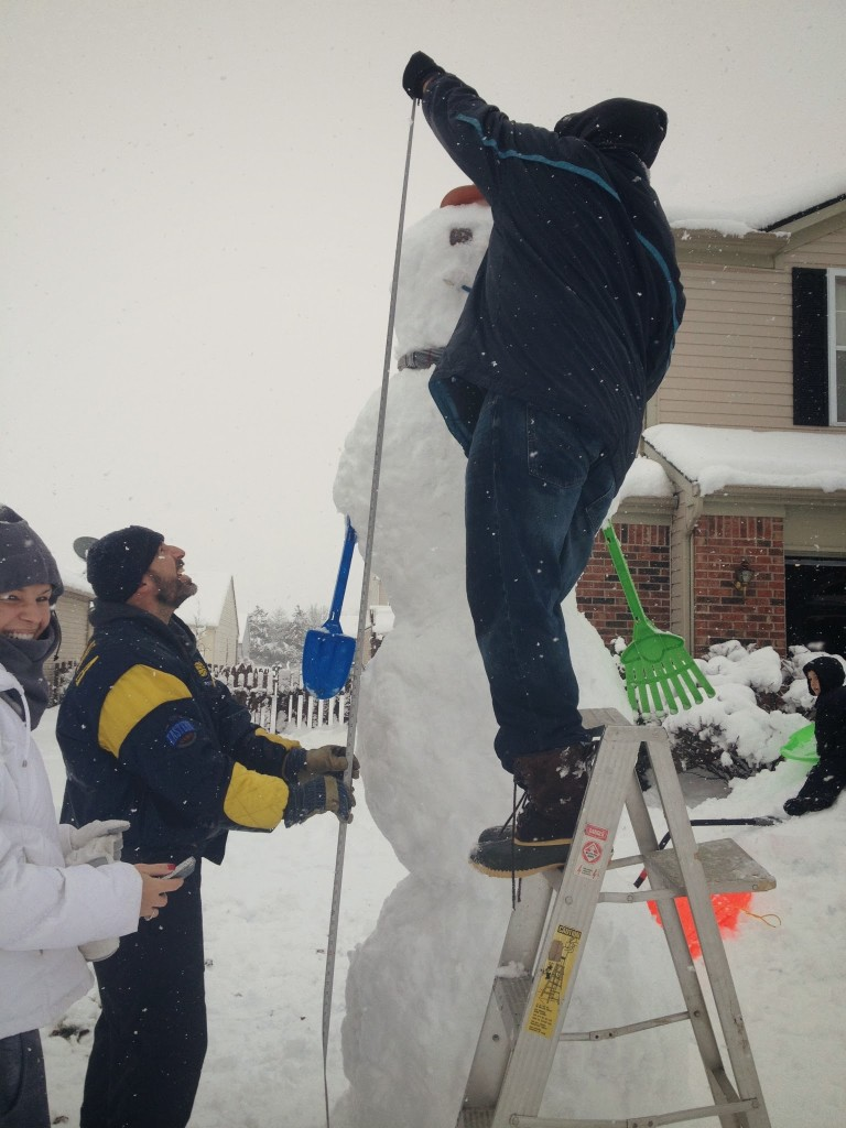 building a giant ten foot snowman