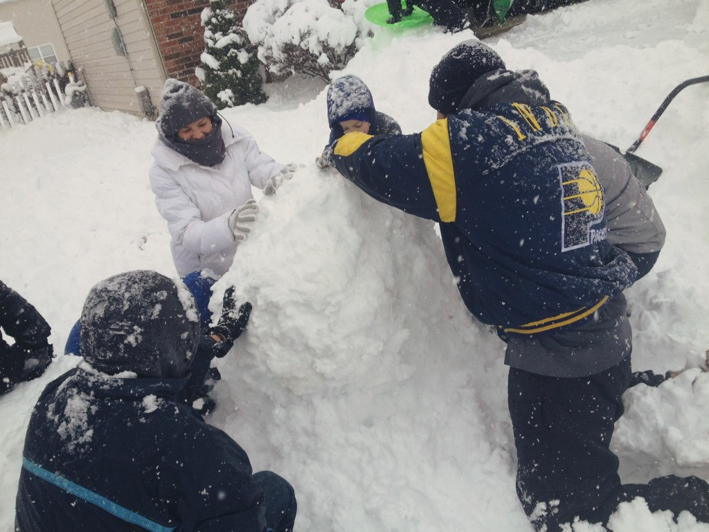 building a ten foot snowman