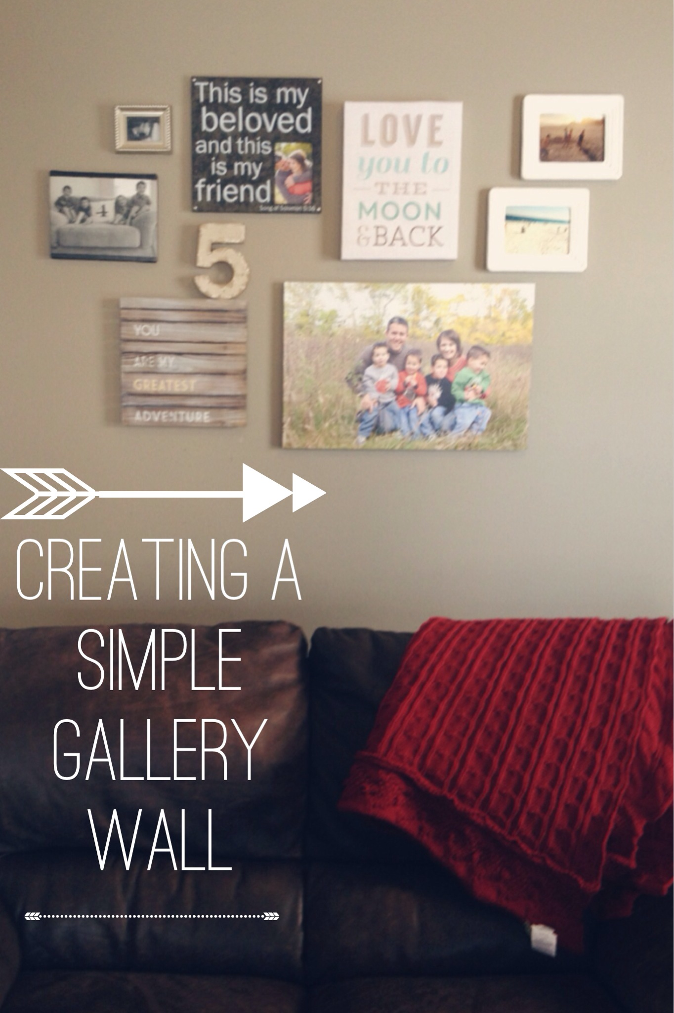creating a simple gallery wall 4tunate. Black Bedroom Furniture Sets. Home Design Ideas